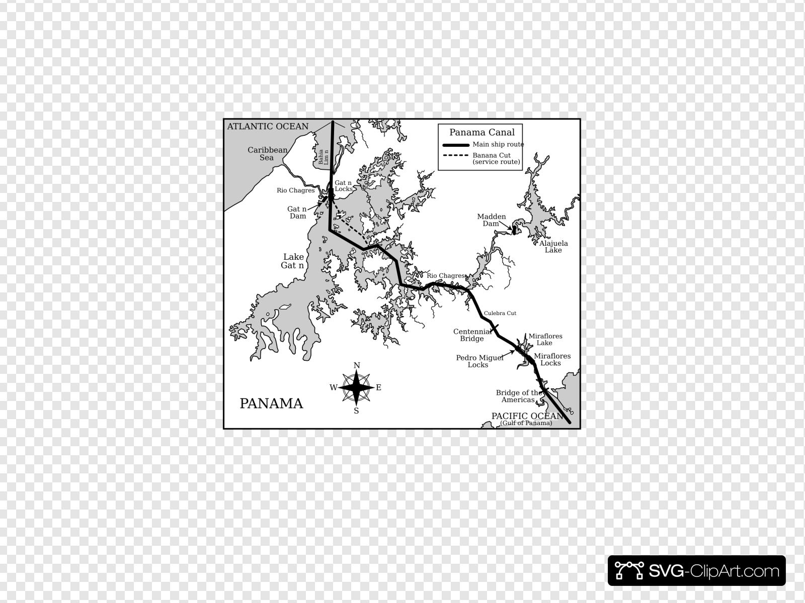 Panama canal locks clipart vector black and white library Panama Canal Clip art, Icon and SVG - SVG Clipart vector black and white library