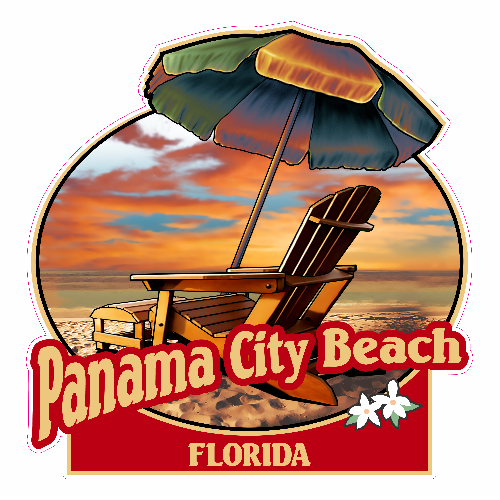 Panama city beach clipart black and white graphic transparent Panama City Vitamin Sea Circle Sticker – U.S. Custom Stickers graphic transparent