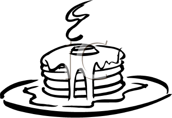 Pancakes clipart black and white free library Black And White Pancakes | Clipart Panda - Free Clipart Images free library