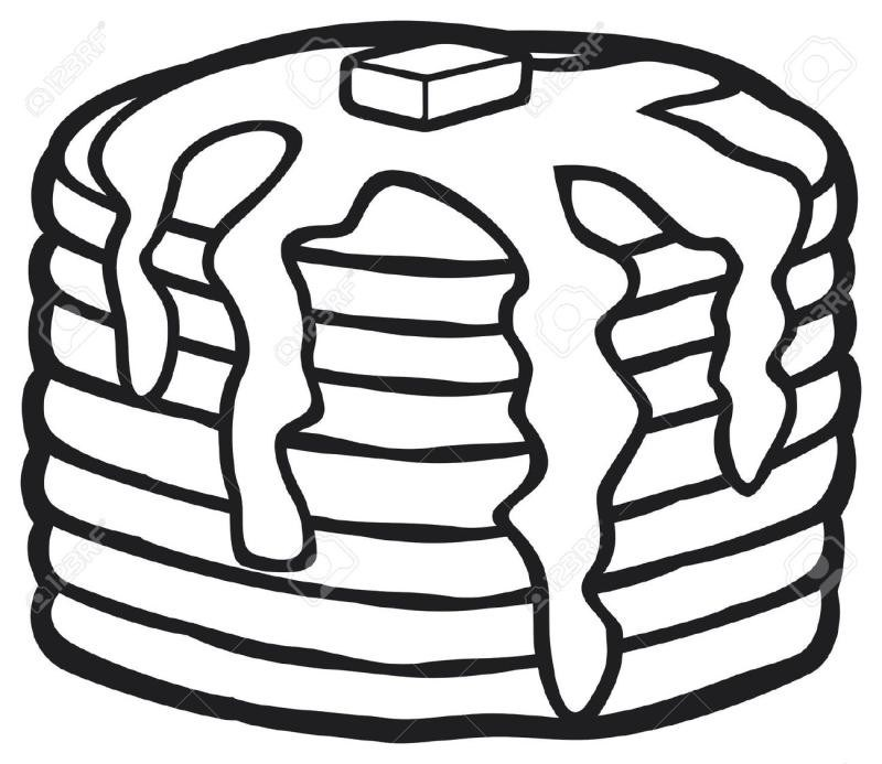 Pancakes clipart black and white clip art library Pancake Clipart Black And White – Ourclipart within Pancakes ... clip art library