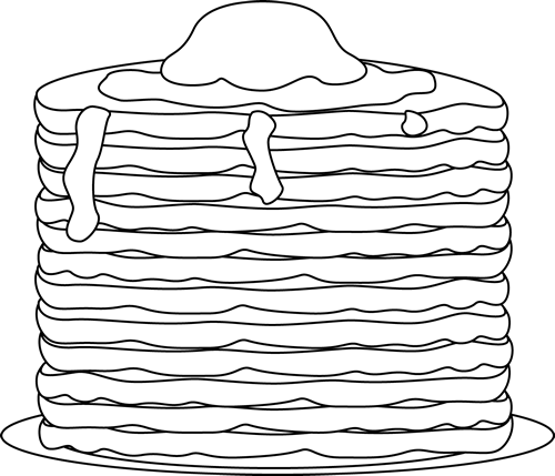 Pancakes clipart black and white picture free library Black and White Pancakes Clip Art - Black and White Pancakes ... picture free library