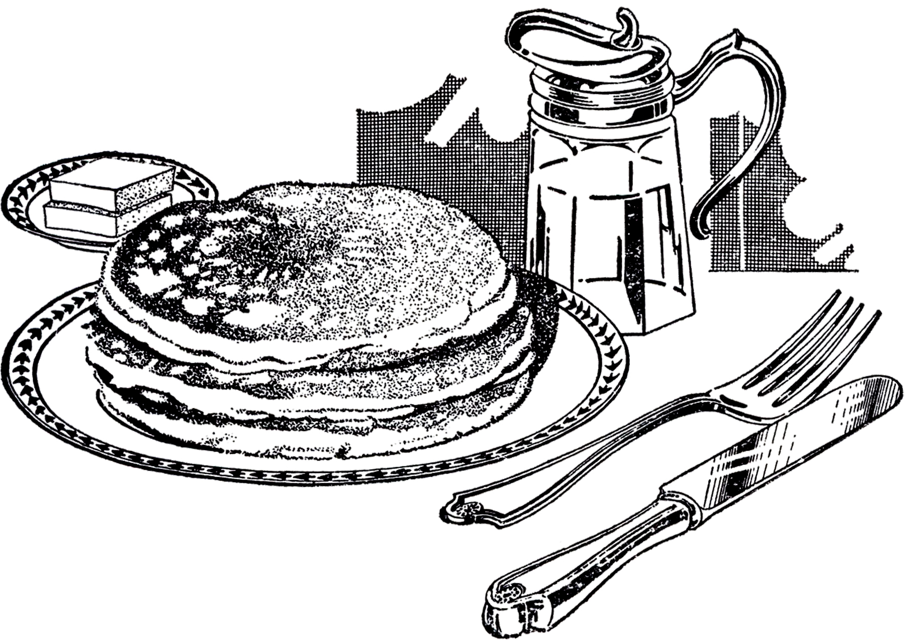 Pancakes clipart black and white clip art transparent Free Pancake Clipart Black And White, Download Free Clip Art ... clip art transparent