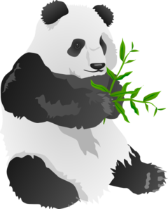 Panda bear clipart images vector free download Panda Bear Clip Art at Clker.com - vector clip art online ... vector free download