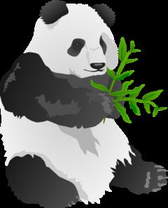 Panda bear clipart image royalty free download Panda Bear Clip Art at Clker.com - vector clip art online ... image royalty free download