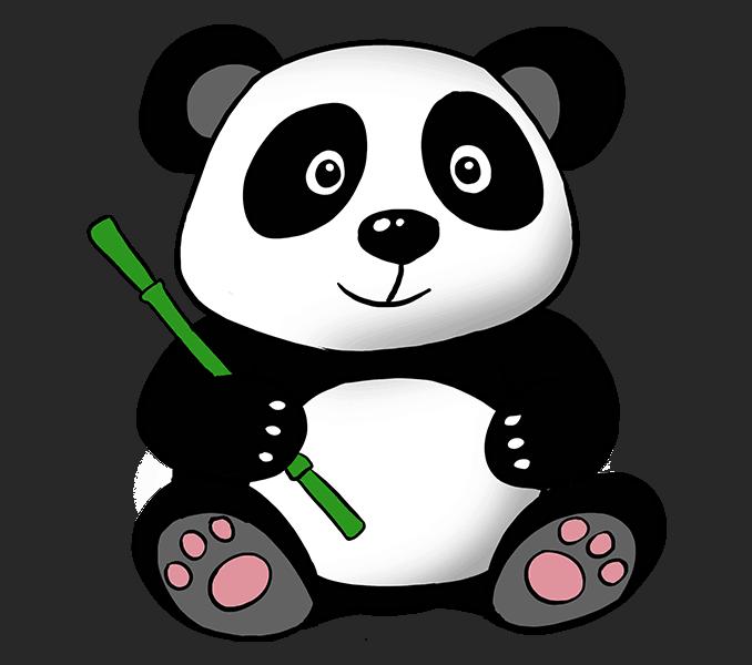 Panda bear halloween clipart png freeuse download How to Draw a cute Cartoon Panda in a Few Easy Steps | Easy Drawing ... png freeuse download
