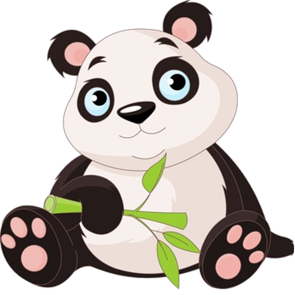 Panda reading a book clipart picture freeuse stock Panda Bears Cartoon Animal Images Free To Download.All Bears Clip ... picture freeuse stock