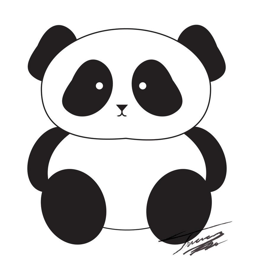 Panda clipart banner black and white Panda Bear Clipart - Clipart Kid banner black and white