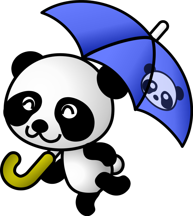 Panda clipart graphic royalty free library Panda lookout clipart free clipart images - Clipartix graphic royalty free library
