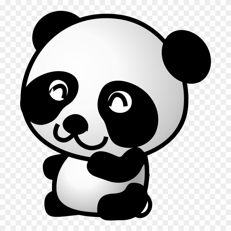 Panda clipart cute svg free Dictionary Clipart Cute - Clip Art Panda - Png Download ... svg free