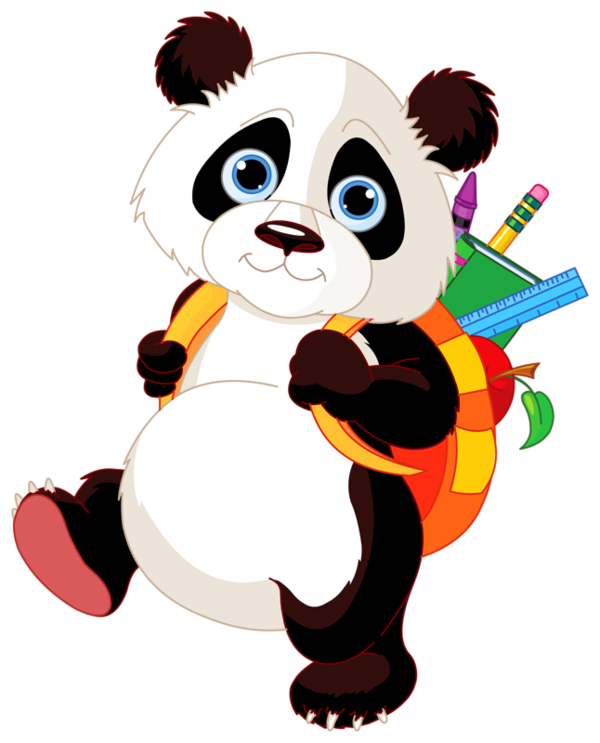 Panda school clipart jpg freeuse library Pin by Elena Stoica on Clipart - Animals, Birds, Insects | Pinterest ... jpg freeuse library