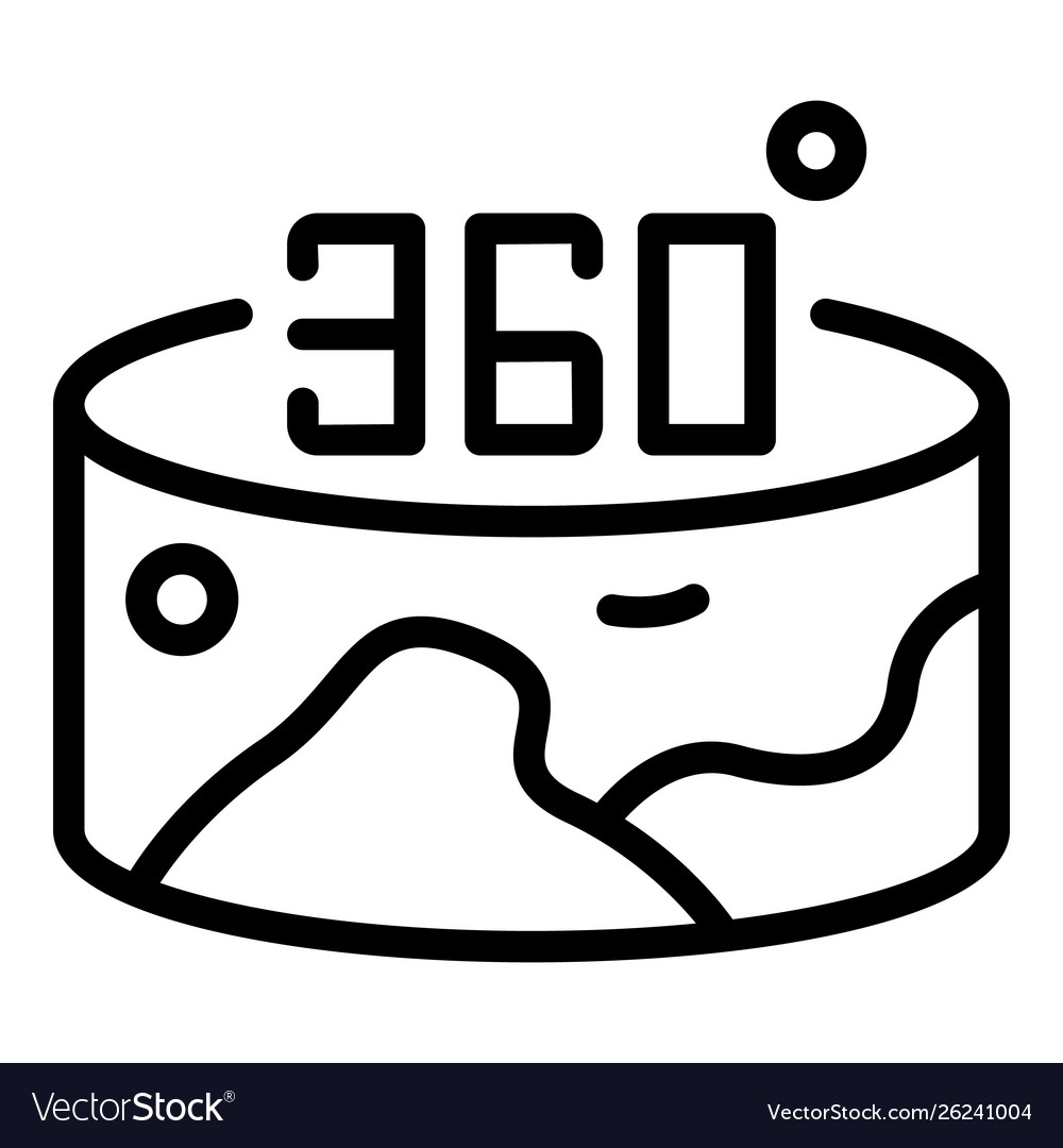 Panorama 360 marker clipart download royalty free library 360 vr panorama icon outline style royalty free library