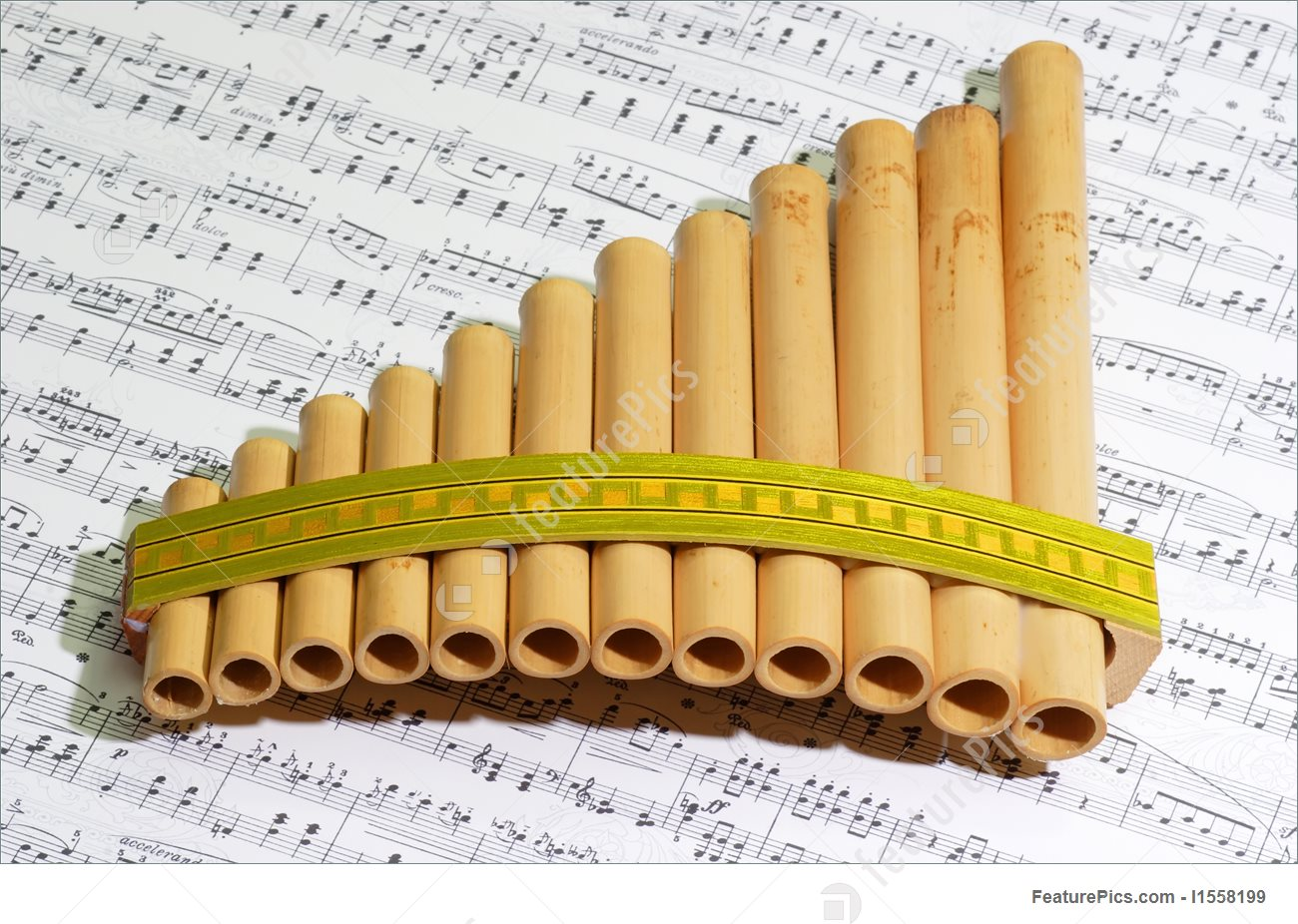 Panpipe notes vector royalty free download Musical Instruments: Pan Flute - Stock Picture I1558199 at FeaturePics vector royalty free download