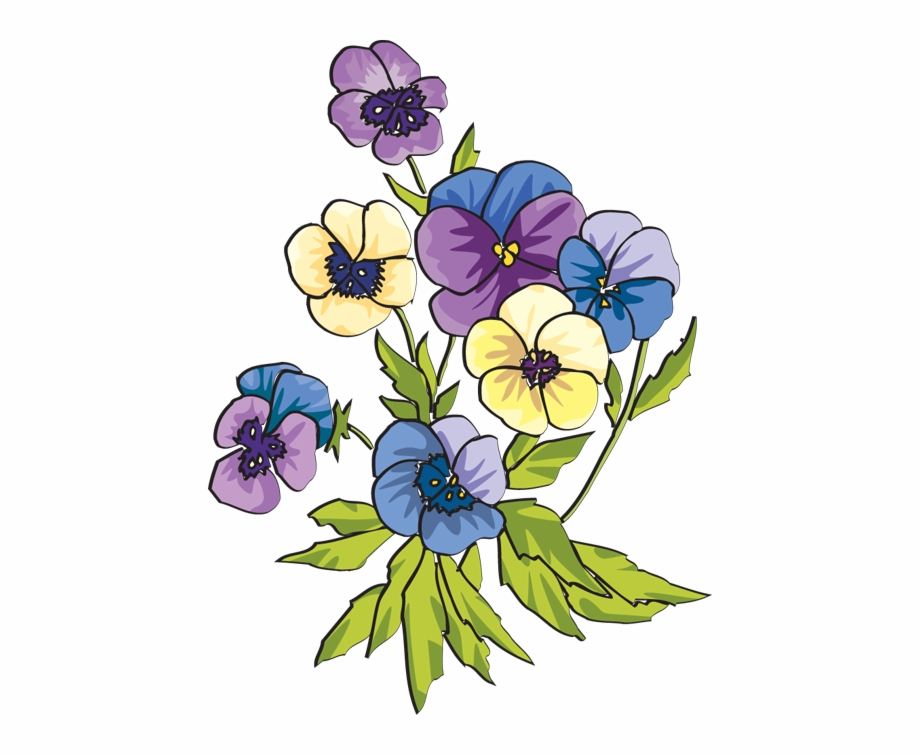 Pansy pictures clipart banner black and white library Pansy Clipart - Pansies Clipart Free PNG Images & Clipart ... banner black and white library