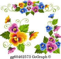 Pansies clipart free svg freeuse library Pansy Clip Art - Royalty Free - GoGraph svg freeuse library