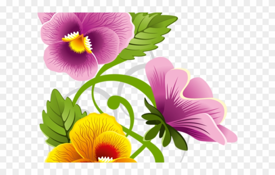 Pansy border clipart graphic free library Pansy Clipart Floral Frame - Flower Corner Border Design ... graphic free library