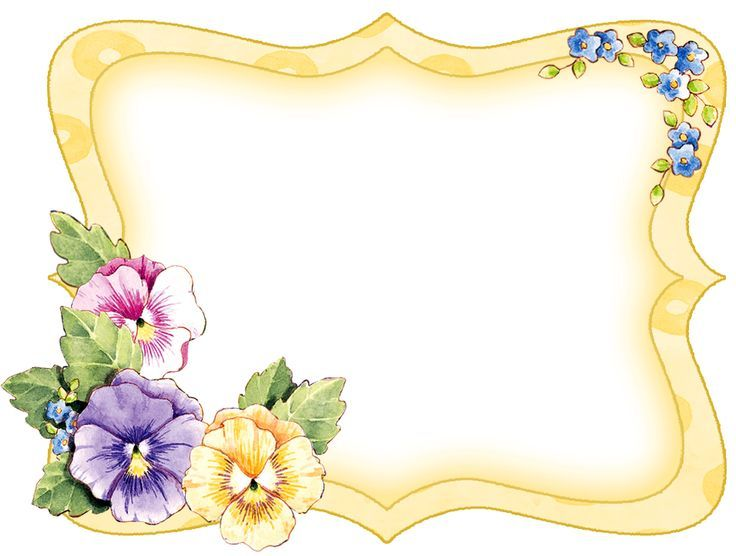 Pansy border clipart clip art download Pansy Flower Corner Border Clip Art | Pin by Masri Awang on ... clip art download