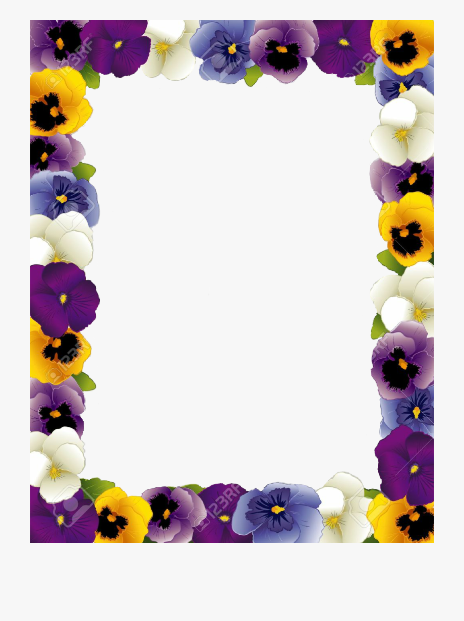 Pansy border clipart clip art freeuse library Pansy Flower Border #796940 - Free Cliparts on ClipartWiki clip art freeuse library
