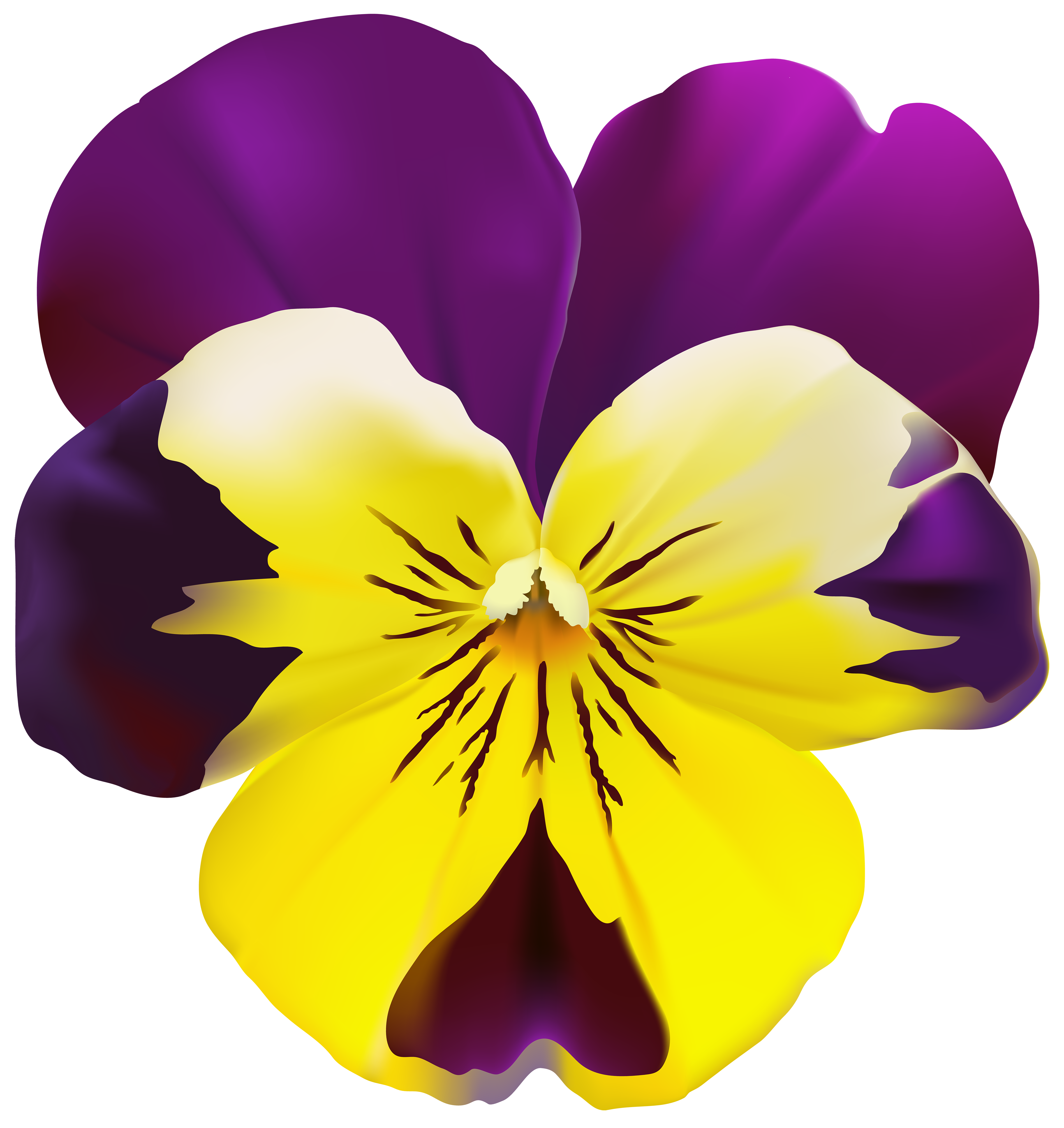 Pansy flower clipart jpg stock Violet Flower Transparent PNG Clip Art | Gallery Yopriceville ... jpg stock
