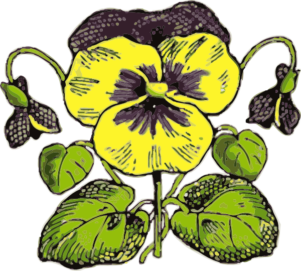 Pansy flower clipart clip library library Pansy Clip Art at Clker.com - vector clip art online, royalty free ... clip library library