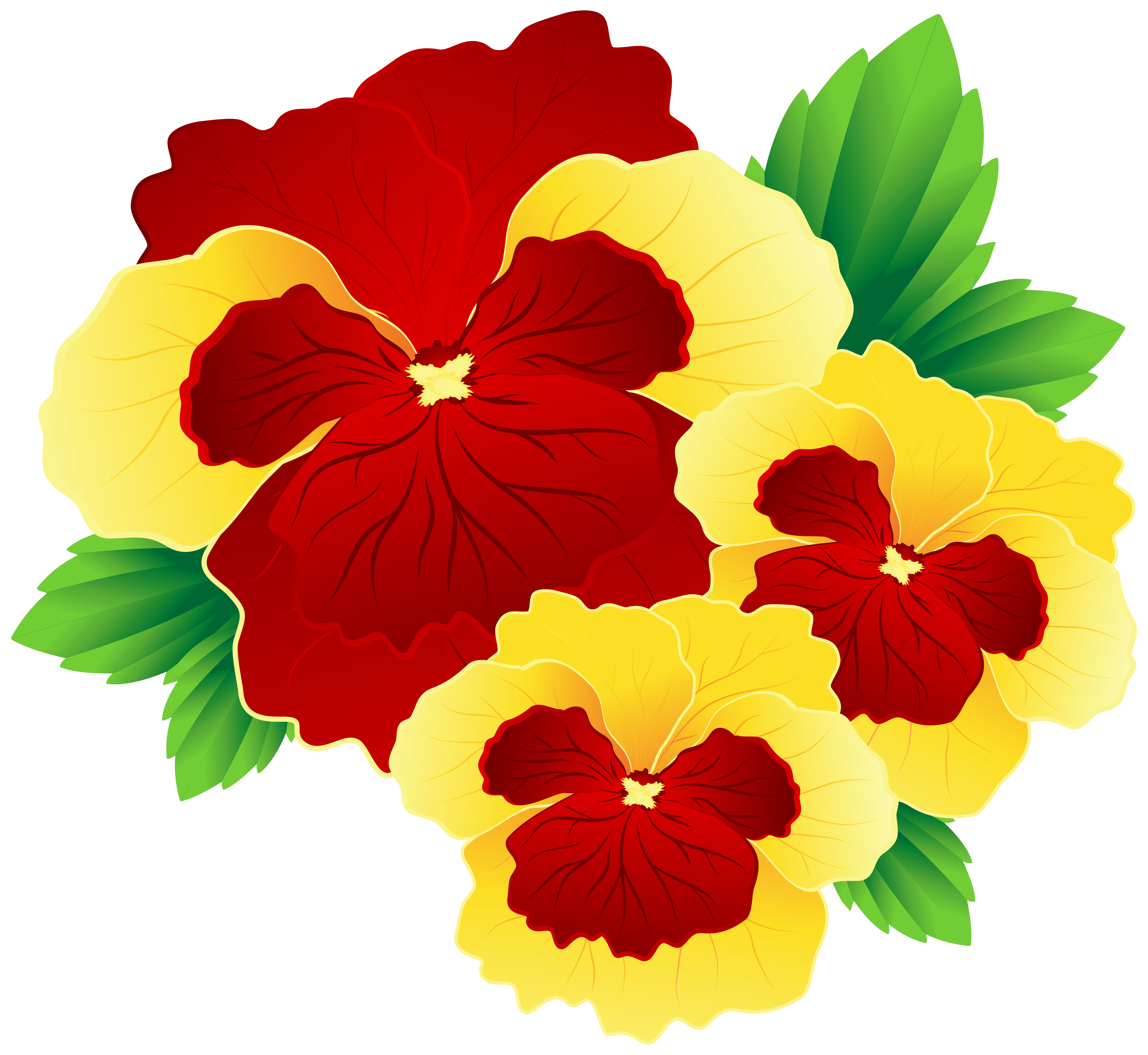 Pansy flower clipart banner library stock Red and Yellow Pansies PNG Clipart Image | Gallery Yopriceville ... banner library stock