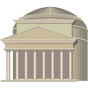 Pantheon clipart svg transparent Pantheon Italy clipart, cliparts of Pantheon Italy free ... svg transparent