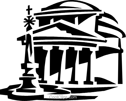 Pantheon clipart vector pantheon, Rome Italy Royalty Free Vector Clip Art ... vector
