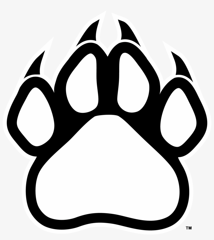 Panther claws black and white clipart clip transparent Claws Clipart Transparent - Panther Paw Print Transparent ... clip transparent