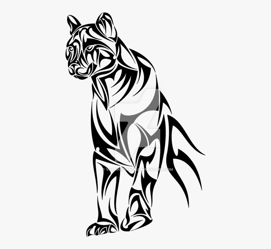 Panther face clipart tribal jpg freeuse library Panther Tribal Png - Panther Tribal Tattoo #1017722 - Free ... jpg freeuse library