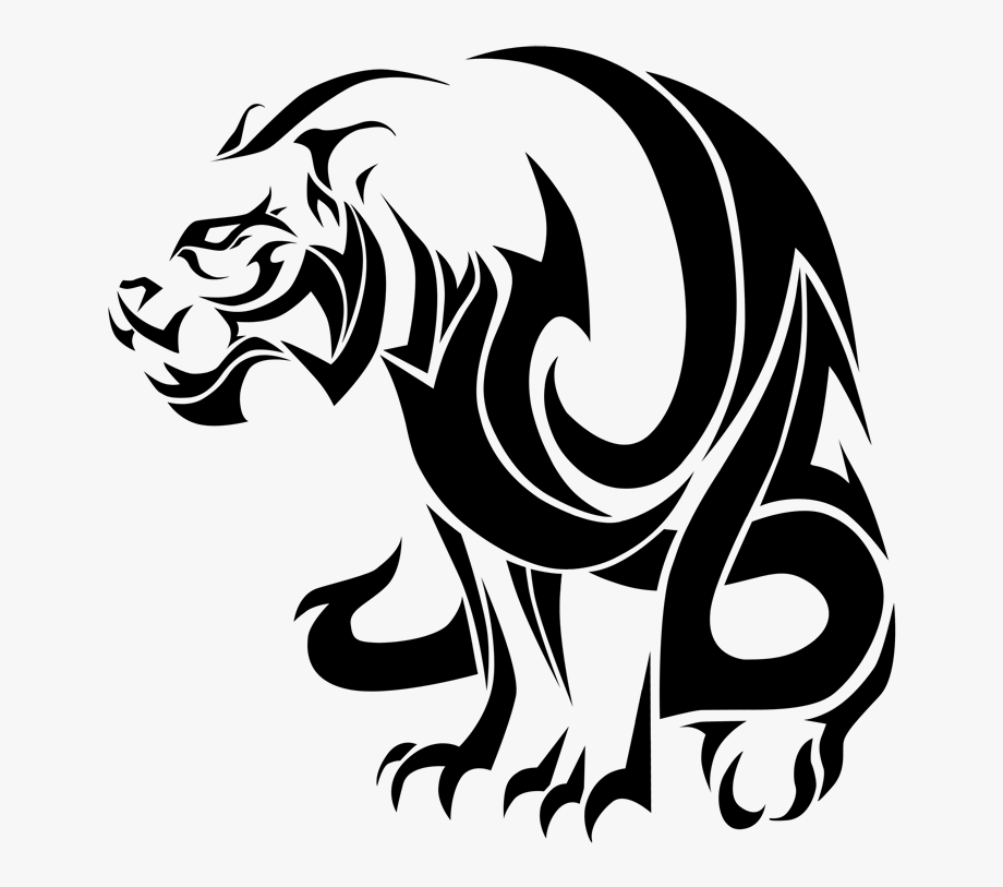 Panther face clipart tribal png freeuse download Panther Drawing Tribal - Tiger Logo Png Tattoo, Cliparts ... png freeuse download