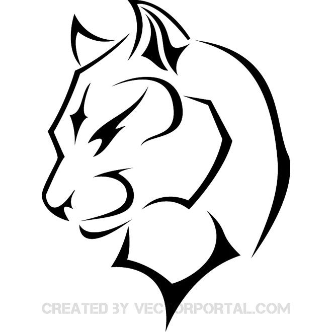 Panther face clipart tribal graphic stock PANTHERA VECTOR IMAGE | Printables | Black panther tattoo ... graphic stock