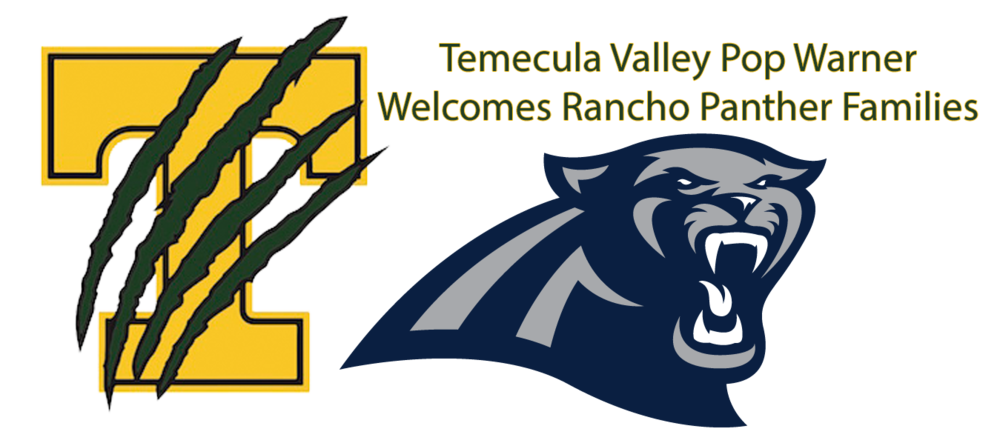 Pee wee football clipart clipart royalty free TVPW Welcomes Rancho Panther Players and Families — Temecula Valley ... clipart royalty free