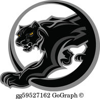 Panther mascot clipart black and white vector library stock Panther Mascot Clip Art - Royalty Free - GoGraph vector library stock