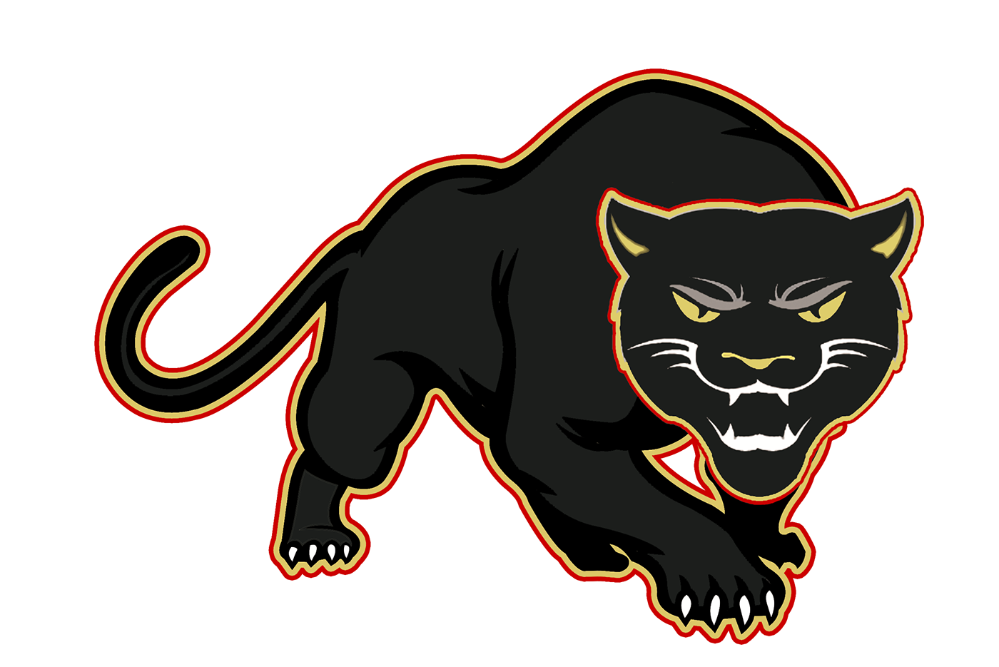 Panther with football clipart graphic transparent library Walker University Football 2018 on Behance graphic transparent library