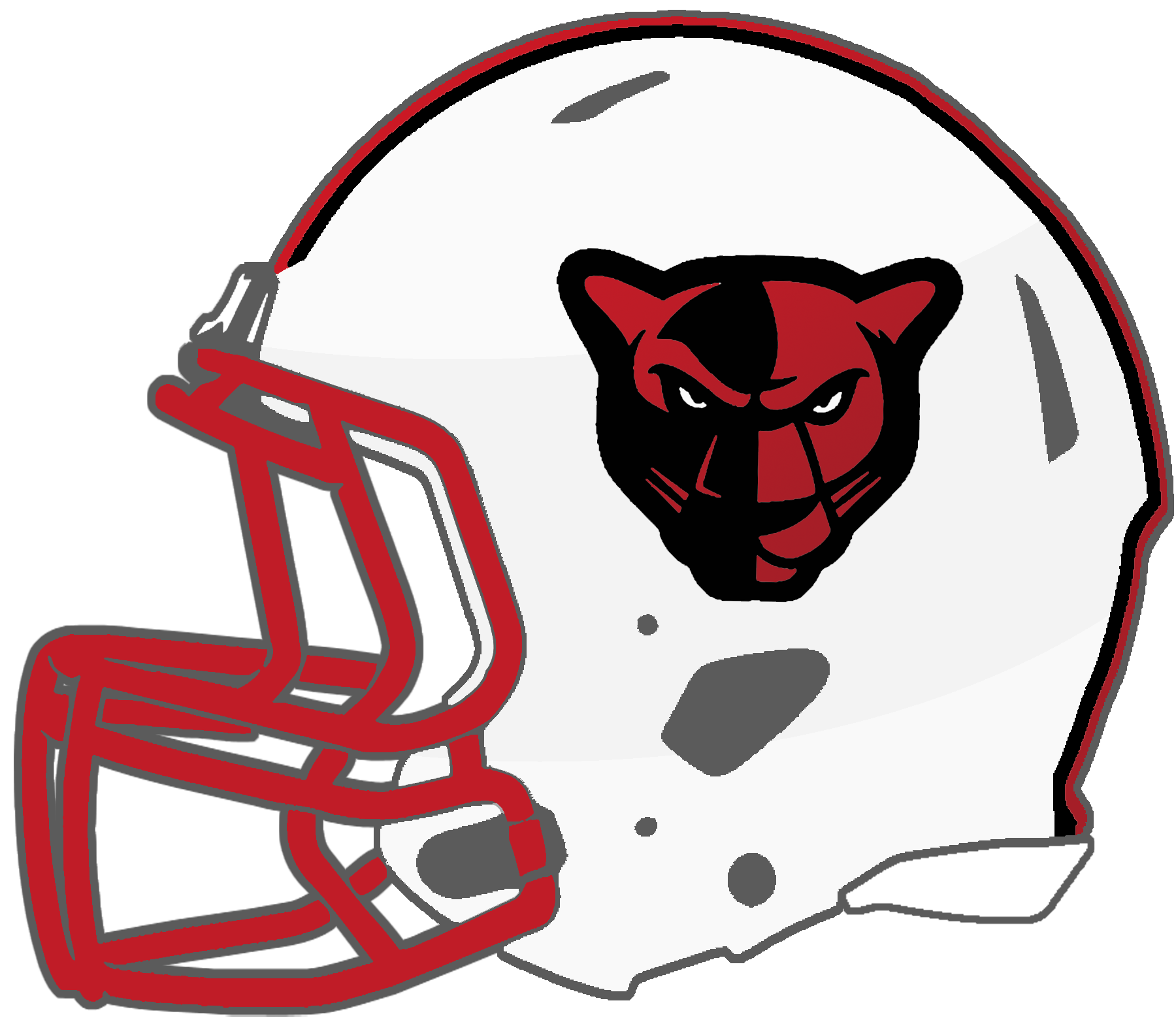 Panthers football helmet clipart image black and white Mississippi High School Football Helmets: 6A image black and white