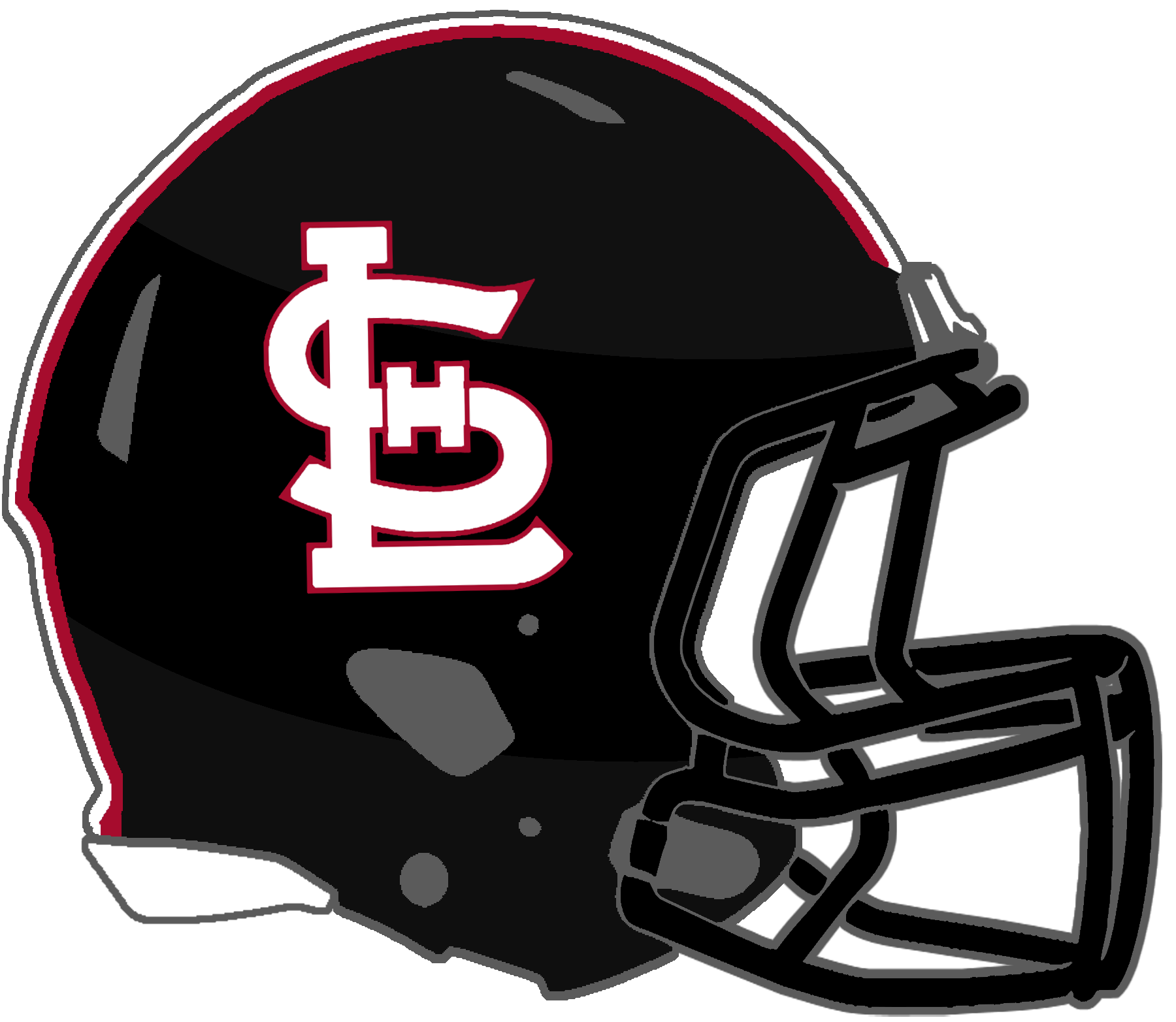 Panthers football helmet clipart png download Mississippi High School Football Helmets: 1A png download