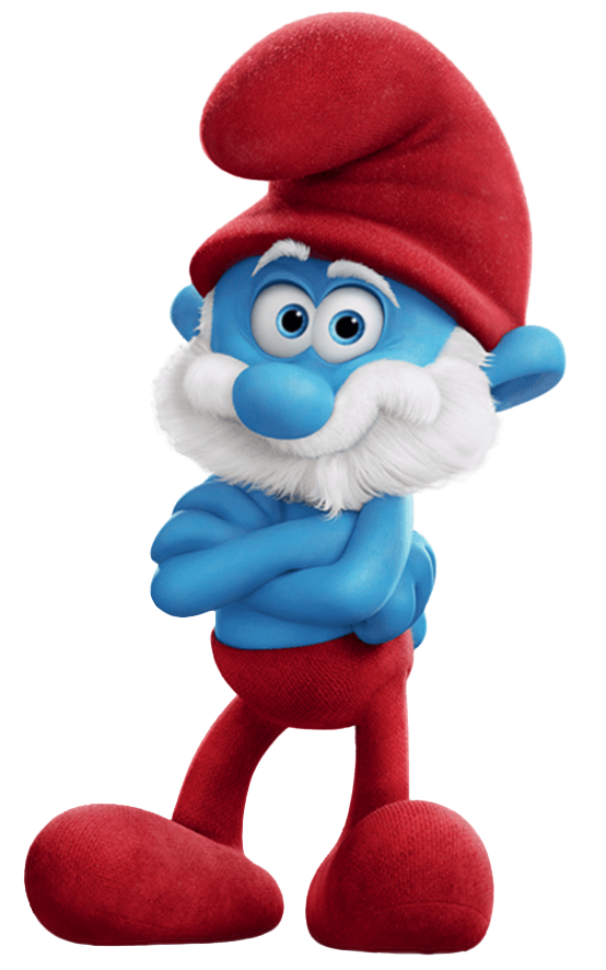 Papa smurf clipart royalty free Papa Smurf Smurfs The Lost Village Transparent PNG Image ... royalty free