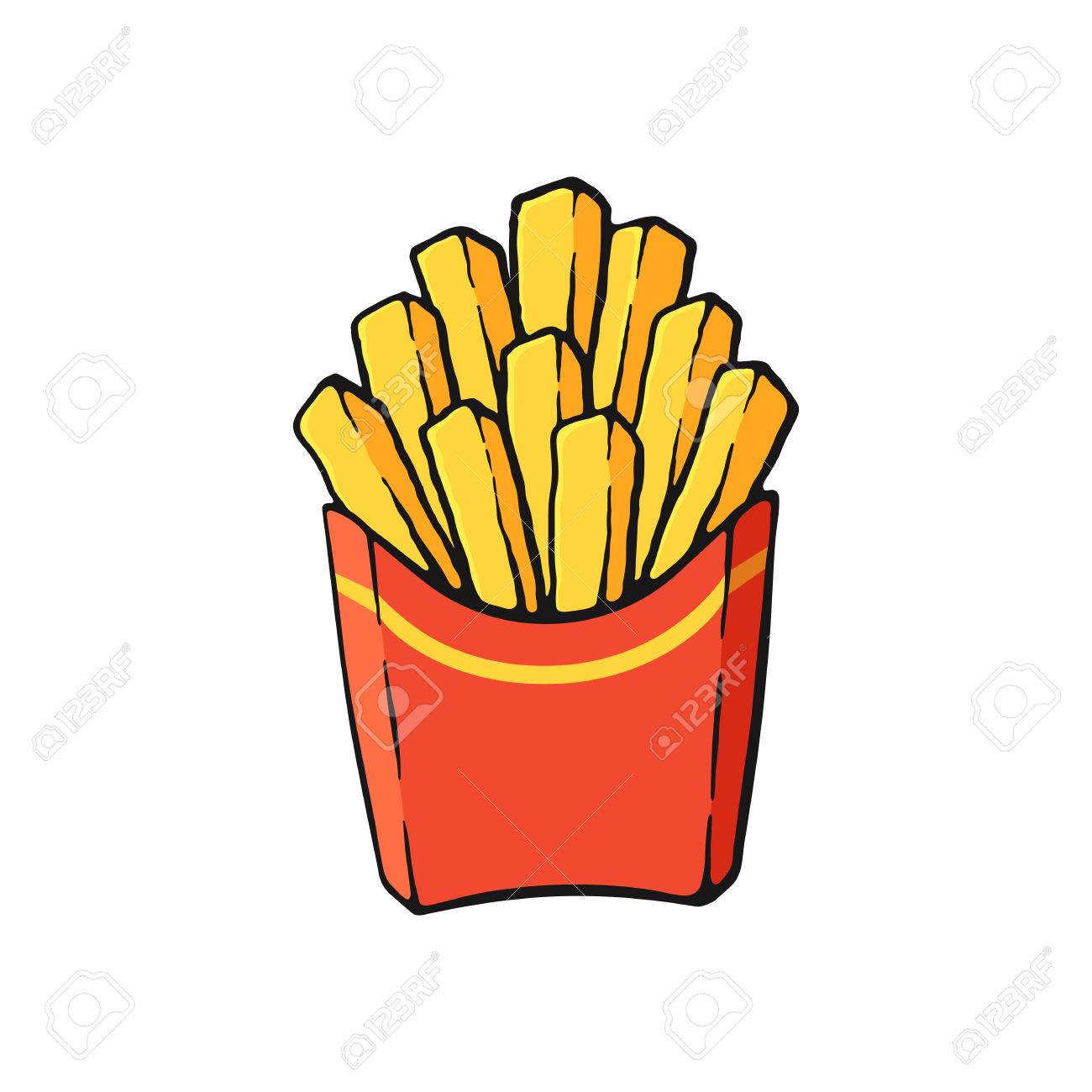 French Fries Clipart papas fritas 4 - 1300 X 1300 Free Clip ... banner transparent