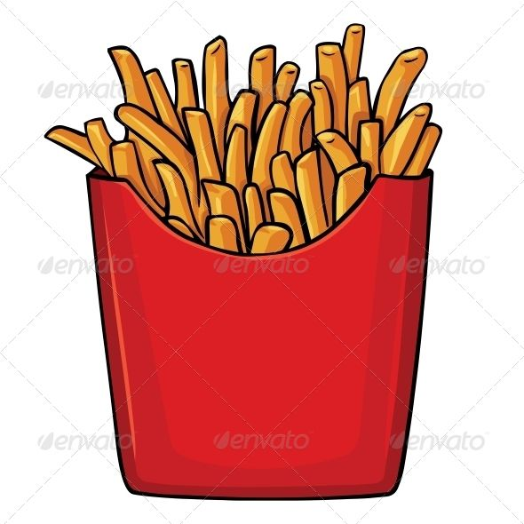 French Fries Clipart papas fritas 8 - 590 X 590 Free Clip ... graphic stock