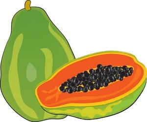 Papaya clipart clip black and white Papaya Cliparts - Cliparts Zone clip black and white