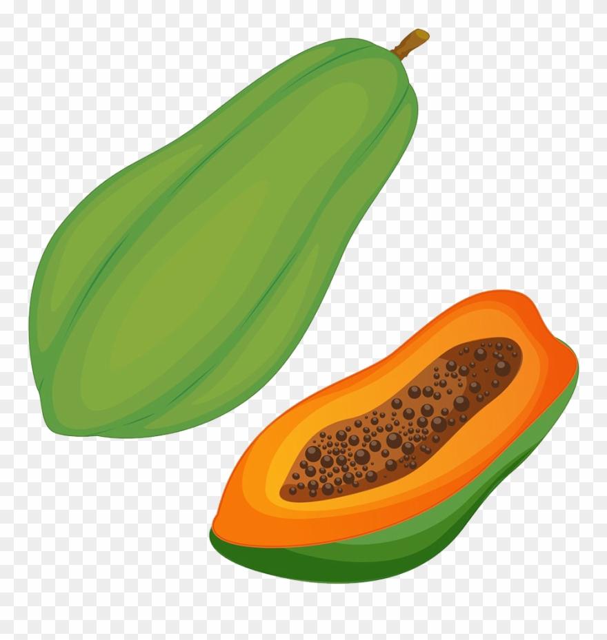 Papaya clipart image royalty free download Pawpaw Clip Art Green - Papaya Clipart - Png Download ... image royalty free download