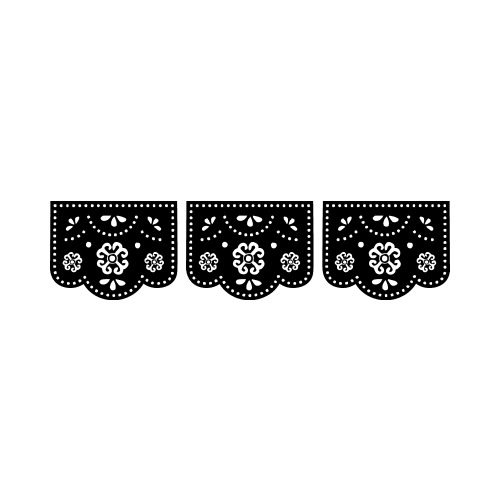 Papel picado clipart numbers black and white wedding clip transparent stock PAPEL PICADO BW Clip Art - Get Started At ThatShirt! clip transparent stock