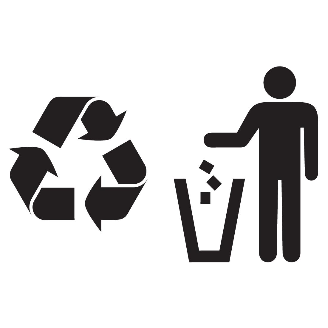 Papelera de reciclaje clipart jpg free stock Adhesivo de vinilo Basura, Papelera y Reciclaje | vinilos | Simbolo ... jpg free stock