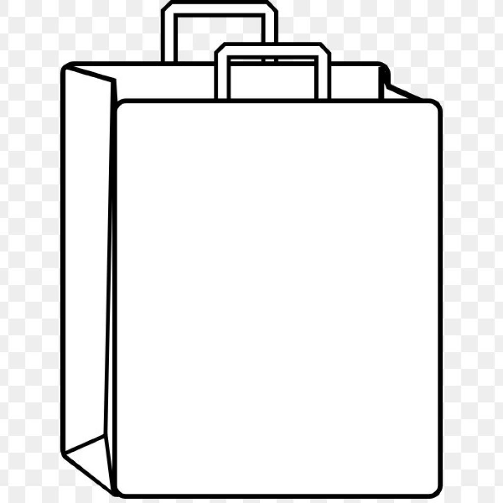 Paper bag clipart black and white picture free library Paper bag clipart black and white 2 » Clipart Portal picture free library