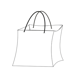 Paper bag clipart black and white freeuse library White Bag Cliparts - Cliparts Zone freeuse library