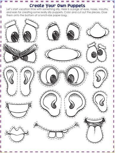 Paper bag eyes clipart