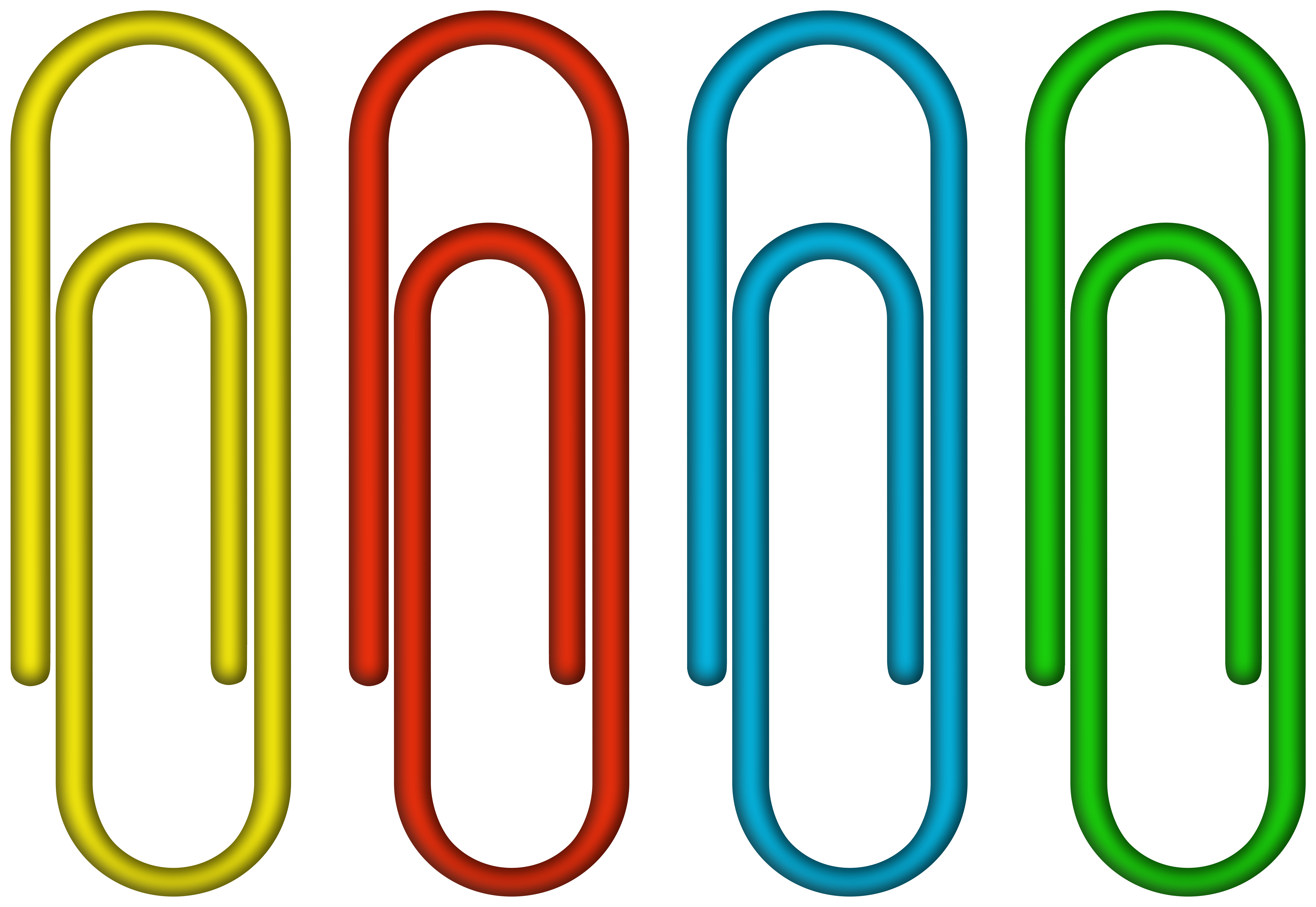 Paper clips clipart clip art library stock Colorful Paper Clips PNG Clipart Image | Gallery ... clip art library stock