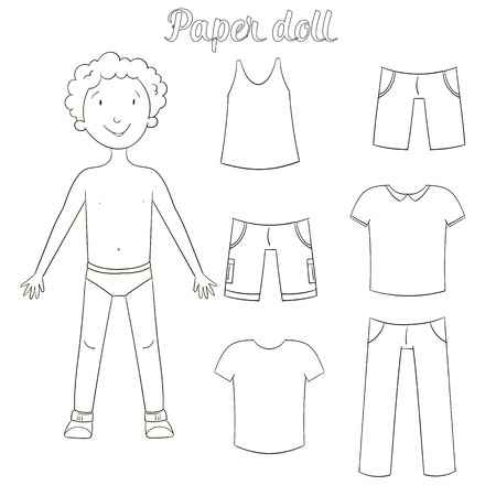 Paper doll clipart black and white picture freeuse download Doll Clipart Black And White (91+ images in Collection) Page 2 picture freeuse download