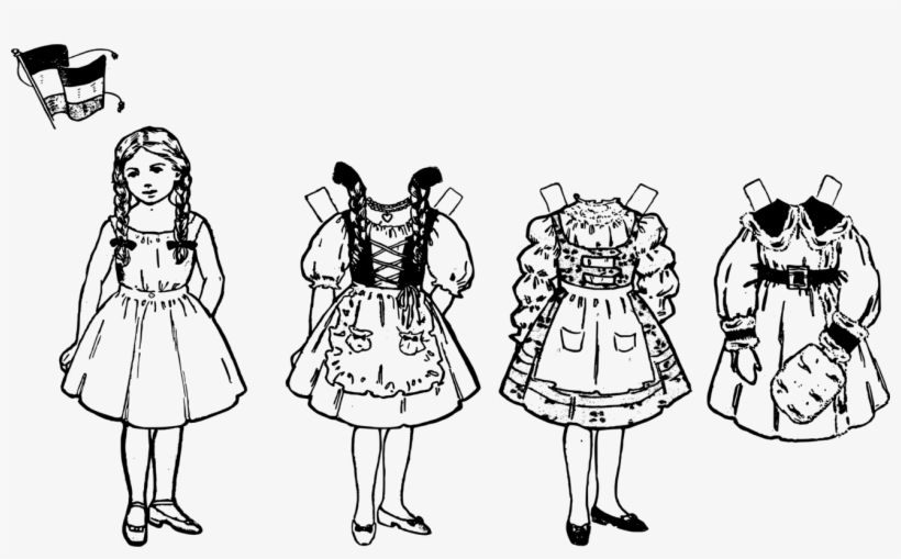 Paper doll clipart black and white image freeuse stock Clip Art - Paper Doll Clipart Black And White - 1309x750 PNG ... image freeuse stock
