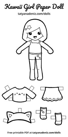 Paper doll clipart black and white graphic download 1388 Best Paper Doll: Black and White images in 2019 | Paper ... graphic download