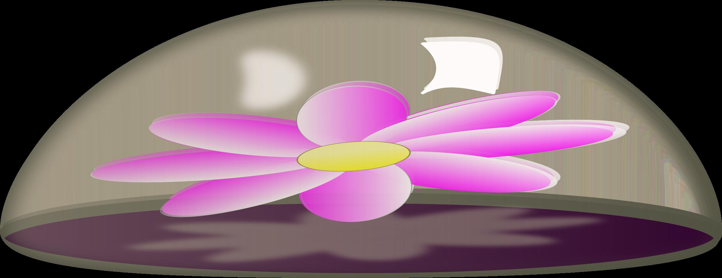 Paper flower clipart svg transparent download Clipart - Flower in Glass Paper Weight svg transparent download